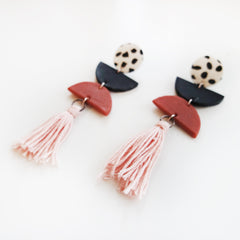 Tassel Porcelain Earrings