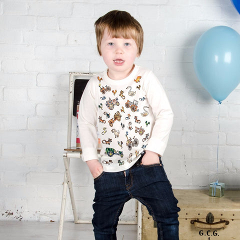 Farmyard Colour In Top With Age by Selfie Clothing Co on OOSTOR.com