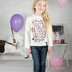 Personalised 'A Little Artist' Colour In Top
