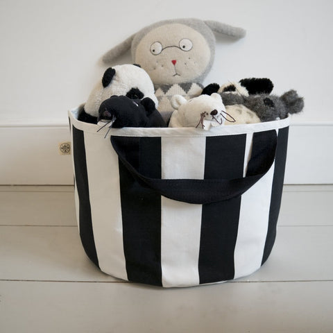 SHALLOW STORAGE BAG IN STRIPE by Wildfire Teepees on OOSTOR.com