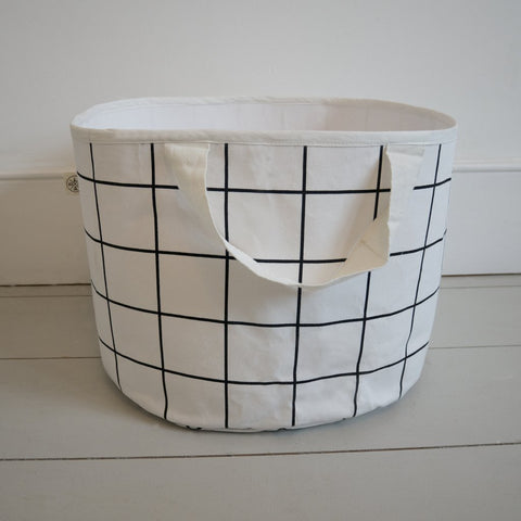 SHALLOW STORAGE BAG IN GRID by Wildfire Teepees on OOSTOR.com