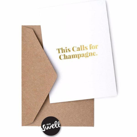 This Calls For Champagne Card by Swell Made Co on OOSTOR.com