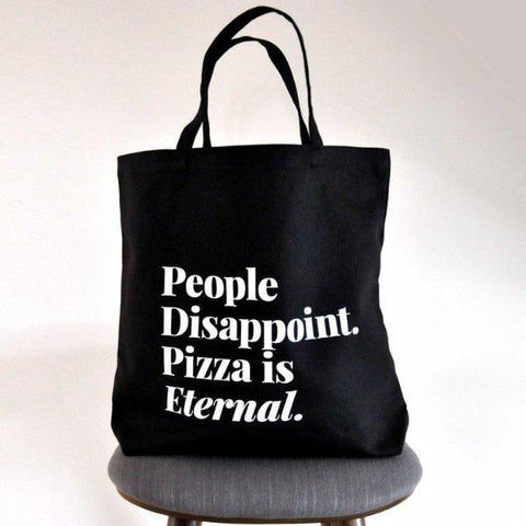 Pizza Is Eternal Cotton Tote Bag