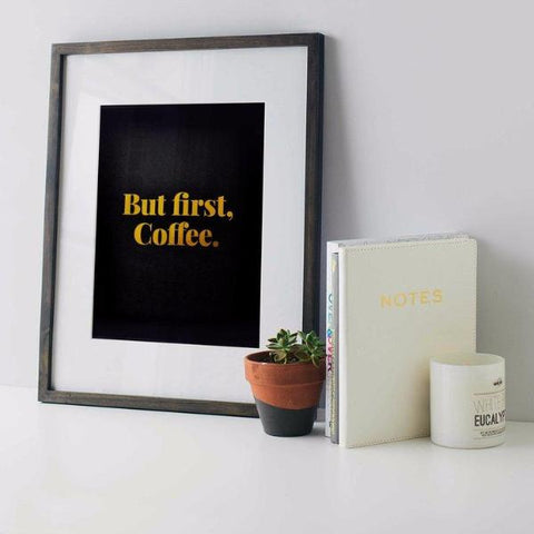 But First Coffee Print by Swell Made Co on OOSTOR.com