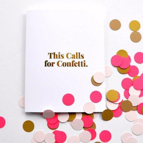 This Calls For Confetti Card by Swell Made Co on OOSTOR.com