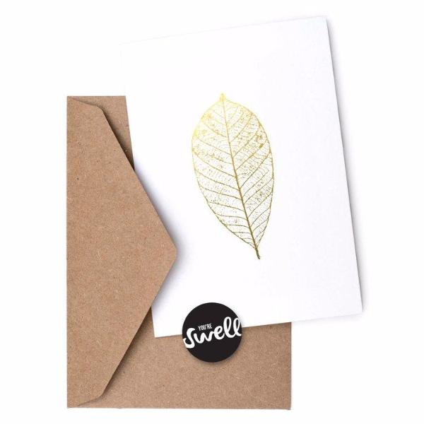 Gold Leaf Card by Swell Made Co on OOSTOR.com