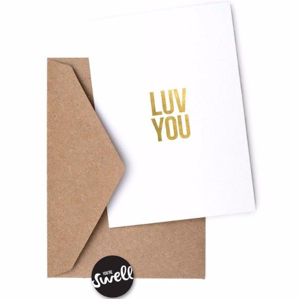 Luv You Card by Swell Made Co on OOSTOR.com