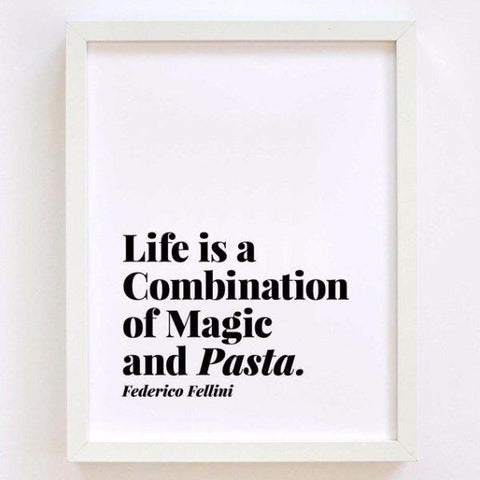 Pizza Is Eternal & Pasta Is Magic Print by Swell Made Co on OOSTOR.com