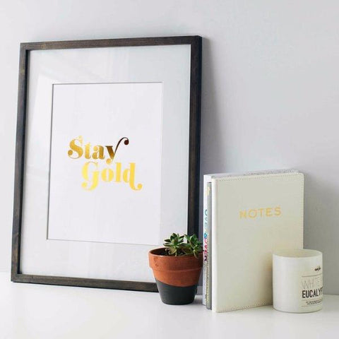 Stay Gold Print by Swell Made Co on OOSTOR.com