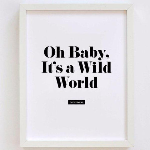 Easy Listening Lyrics Prints by Swell Made Co on OOSTOR.com