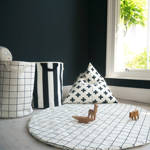 GRID/CROSS PRINT PLAY MAT by Wildfire Teepees on OOSTOR.com