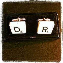 Vintage Scrabble Tile Cufflinks