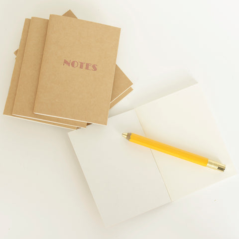 'Notes' Letterpress Notebook by Elsker Creations on OOSTOR.com