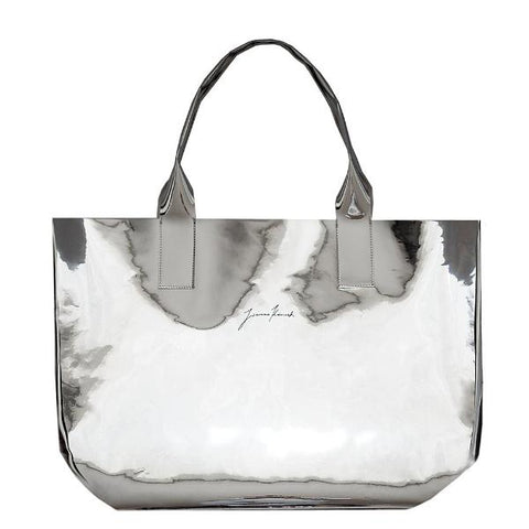 Metallic Shopper Tote Bag