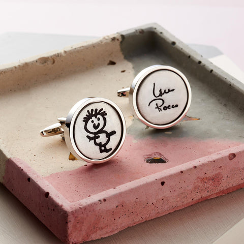 Silver Edition Artwork Cufflinks by Oliver Twist Designs