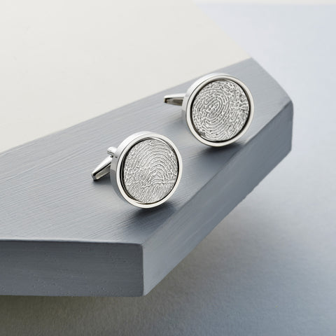 Silver Edition Fingerprint Cufflinks by Oliver Twist Designs