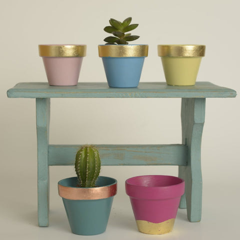 Small Gilded Plant Pots by Elsker Creations on OOSTOR.com