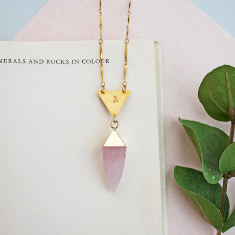 Sorceress Rose Quartz Necklace by Eclectic Eccentricity on OOSTOR.com