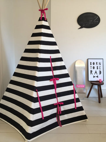 STRIPE TEEPEE PINK TRIM by Wildfire Teepees on OOSTOR.com