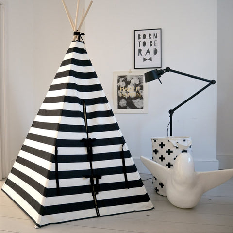 STRIPE TEEPEE BLACK TRIM by Wildfire Teepees on OOSTOR.com