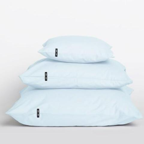 Set of 2 Pastel Blue Pure Cotton Pillow Cases by HOP Design on OOSTOR.com