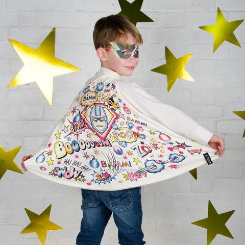 Superhero Colour Cape With Fabric Pens by Selfie Clothing Co on OOSTOR.com