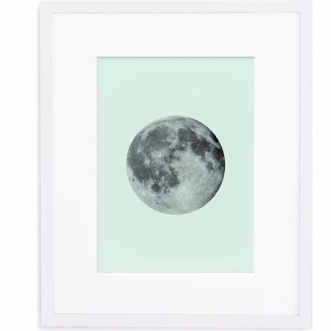 Mint Moon Print by Swell Made Co on OOSTOR.com