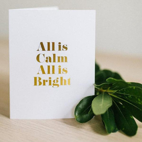 All Is Calm | Card by Swell Made Co on OOSTOR.com