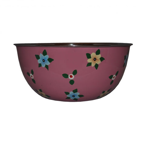Dusty Pink Bowl With Small Flowers by Jasmine White on OOSTOR.com