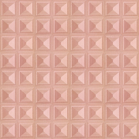 Marquetry Pink Wallpaper by Pad Home on OOSTOR.com