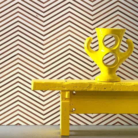 Scrapwood On Teak Chevron Wallpaper by Pad Home on OOSTOR.com
