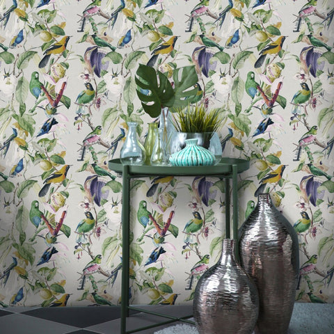 Tropical Birds Wallpaper by Pad Home on OOSTOR.com