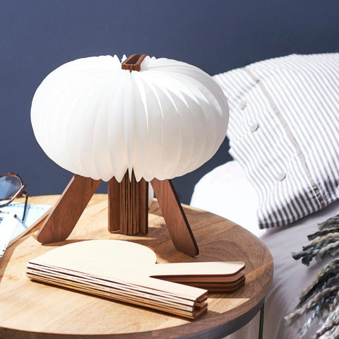 The R Space Lamp - Walnut by Gingko