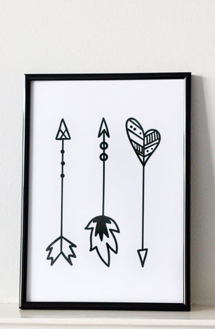 The Three Arrows Print by Roscoe rules
