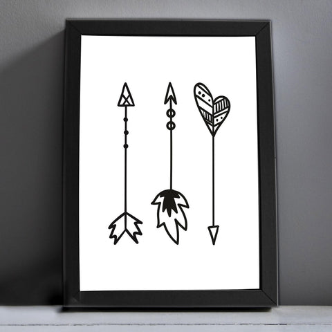 The Three Arrows Print