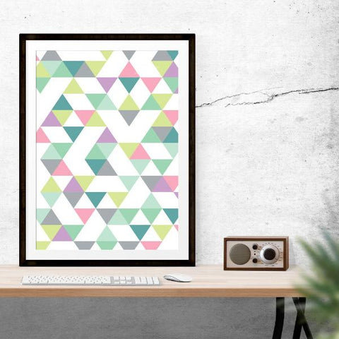 Triangles Inspirational Prints by The Native State