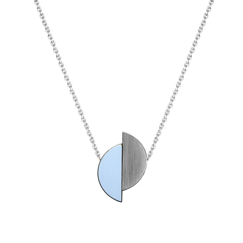 The Lizzie - Peaceful Blue Reversible Necklace by form.london on OOSTOR.com