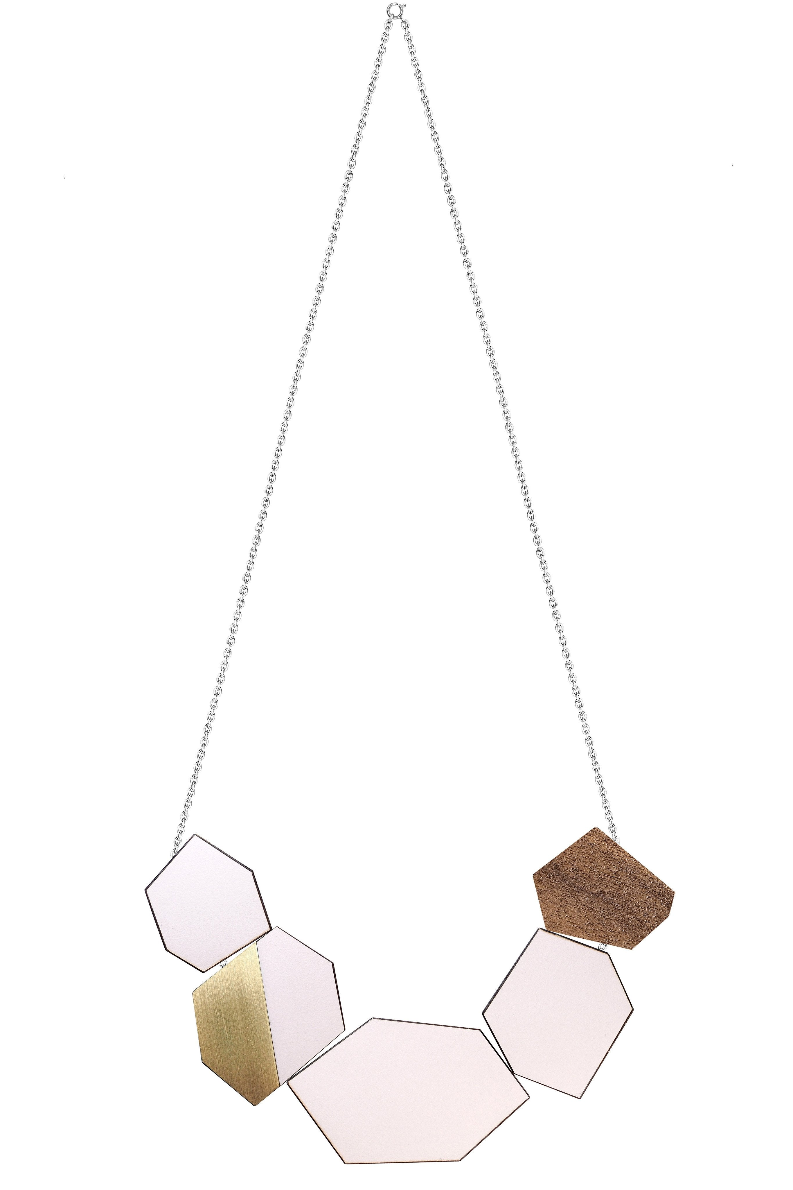 The Ella - Just Rose Reversible Necklace by form.london on OOSTOR.com