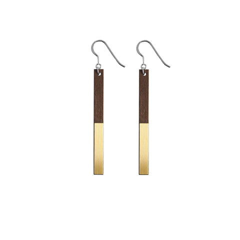 The Zelda - Brass Drop Earrings by form.london on OOSTOR.com