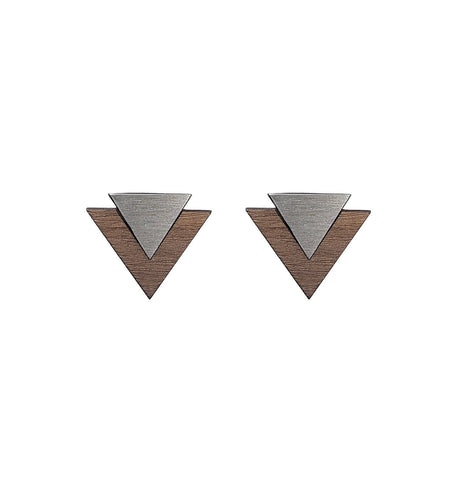 The Maisie - Steel Stud Earrings by form.london on OOSTOR.com