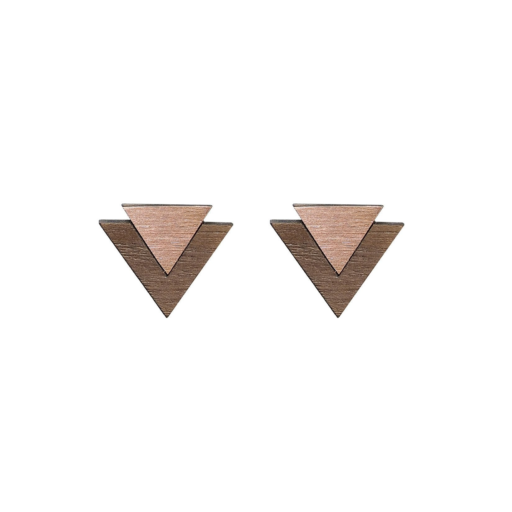 The Maisie - Copper Stud Earrings by form.london on OOSTOR.com