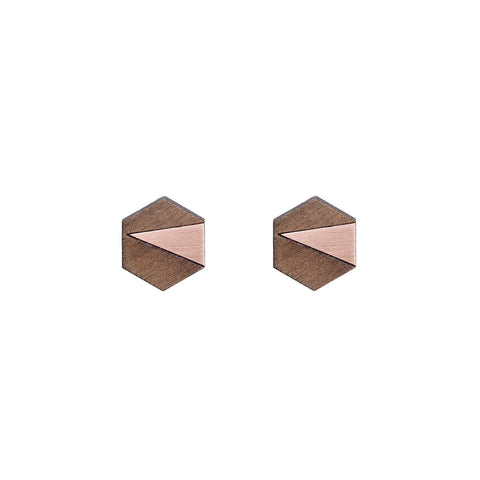 The Elsa - Copper Stud Earrings by form.london on OOSTOR.com