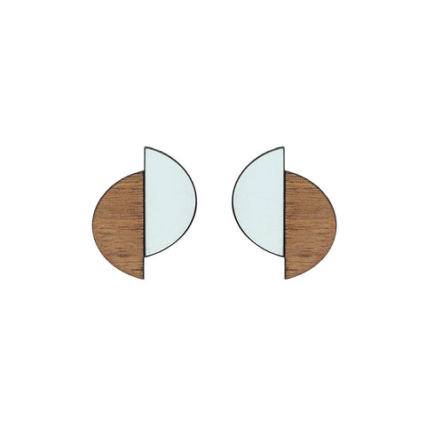 The Claire - Aquamarine Stud Earrings by form.london on OOSTOR.com