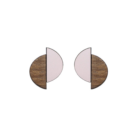 The Claire - Just Rose Stud Earrings by form.london on OOSTOR.com