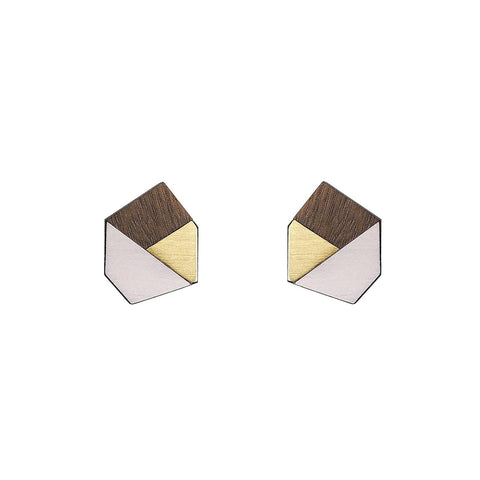 The Gwen - Just Rose Stud Earrings by form.london on OOSTOR.com