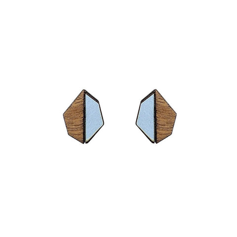The Evelyn - Peaceful Blue Stud Earrings by form.london on OOSTOR.com