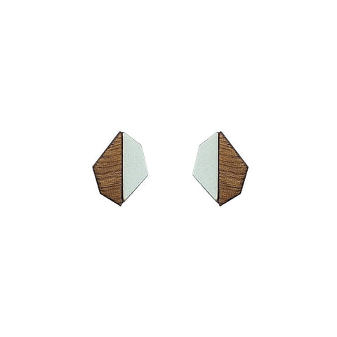 The Evelyn - Aquamarine Stud Earrings by form.london on OOSTOR.com