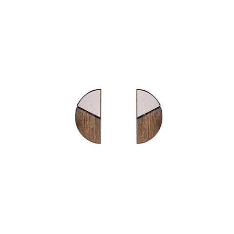 The Natalia - Just Rose Stud Earrings by form.london on OOSTOR.com