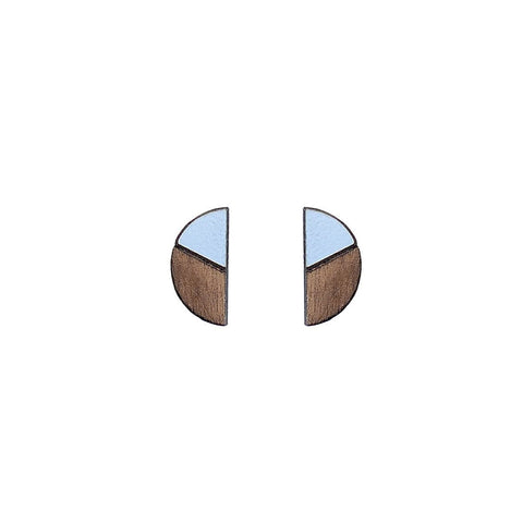 The Natalia - Peaceful Blue Stud Earrings by form.london on OOSTOR.com