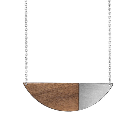 The Alexandra - Steel Necklace by form.london on OOSTOR.com